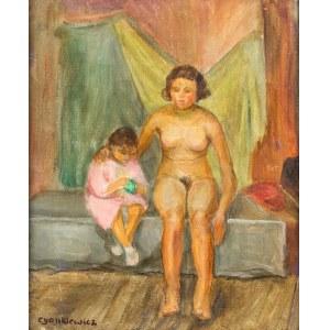Zdzisław Cyankiewicz (1912 Białystok - 1981 Paryż), Kobieta z dzieckiem