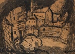 Henryk Lewensztadt (1893-1962), Miasto-widok na podwórko