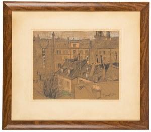 Henryk Uziembło (1879 Myślachowice - 1949 Kraków), Dachy Paryża, 1905 r.