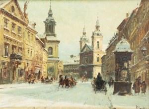Władysław Chmieliński (1911 Warszawa – 1979 tamże), Widok z ul. Freta w Warszawie