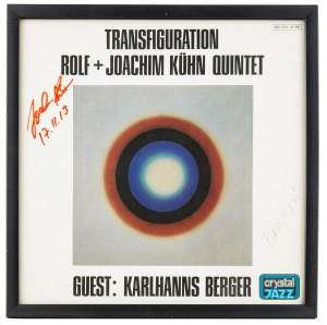Okładka płyty z autografem Fangora i Joachima Kühna + Płyta Transfiguration, 1967 r.
