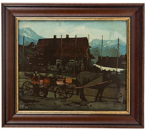 Antoni Fałat (ur. 1942 Warszawa), Pejzaż z Podhala, 1982 r.