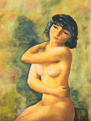 Mojżesz Kisling (1891 Kraków - 1953 Sanary-sur-Mer), Akt, 1952 r.