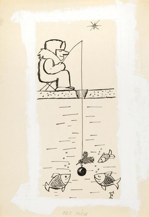 Jerzy Flisak (1930 Warszawa - 2008 tamże), Bez słów, ilustarcja do Szpilek nr 51/52