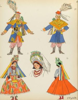 Zofia Stryjeńska (1891 Kraków - 1976 Genewa), Krakowianin i Krakowianka - stroje weselne, Plansza VIII z teki