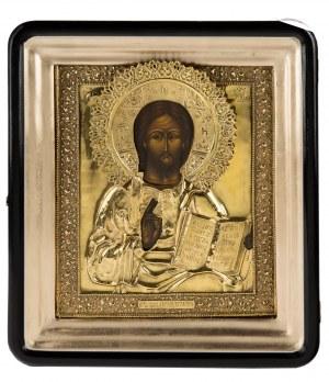 Ikona - Chrystus Pantokrator, pocz. XX w.
