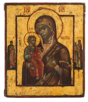Ikona - Matka Boska Trójręka, 1 poł XIX w.