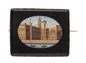 Broszka z widokiem Wenecji, I poł. XX w.