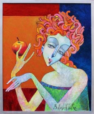 Jan Bonawtura Ostrowski, Dziewczyna z jabłkiem, 2021