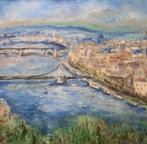 Anna Piórek, Budapeszt panorama ze Wzgórza Gallerta, 2018