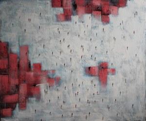 Filip Łoziński, Ludzka kompozycja z czerwienią, 2021
