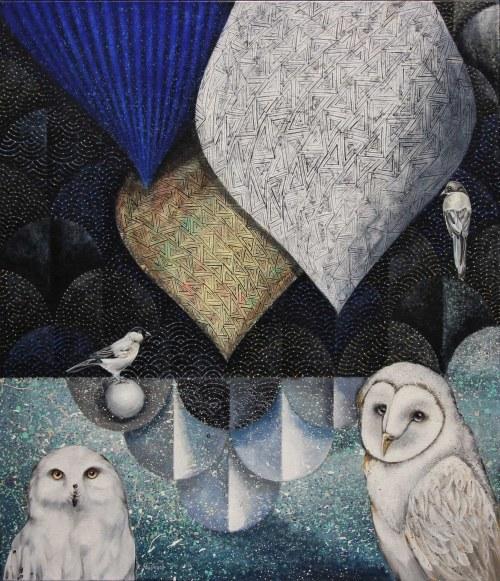 Katarzyna Stelmach, Kompozycja ze śnieżną sową, 2021