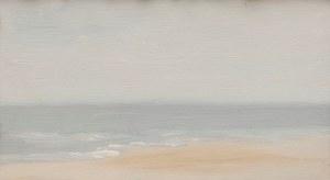 Jerzy Skrebec(1926-1995) ,Jasne morze z plażą