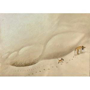 Józef Wilkoń(Ur1930),Lwy na pustyni