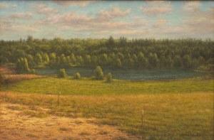 Zdzisław Zaborowski,Pejzaż z jeziorem,