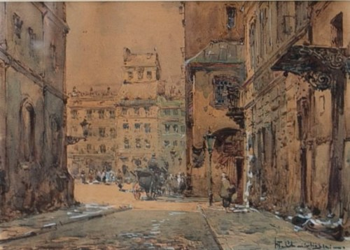 Władysław Chmieliński(Stachowicz)1911-1979,Rynek Starego Miasta w Warszawie