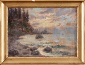 Stefan PIENIĄŻEK (1888-1958), Wschód słońca na morzu
