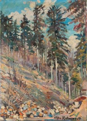 Stefan ROSTWOROWSKI (1921-2000), Wnętrze lasu, 1977