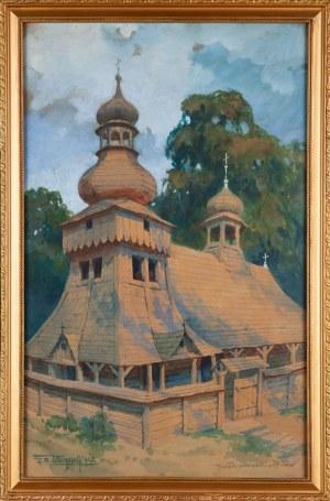 Zygmunt WIERCIAK (1881-1950), Kościółek podkarpacki z XV w., 1946