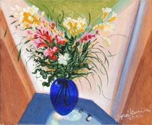 Lech GRZEŚKIEWICZ (1913-2012), Martwa natura z kwiatami, 2002