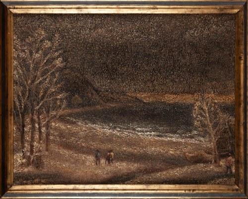 Rajmund PIETKIEWICZ (ur. 1920), Krajobraz zimowy, 1977