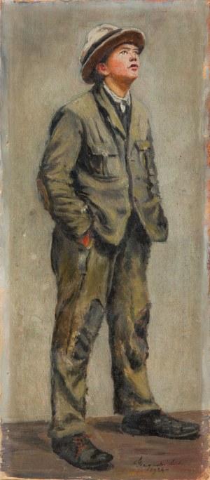 Michał GACZYŃSKI (1893-?) - przypisywany, Młodzieniec w kapeluszu