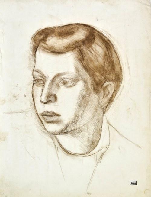 Otto AXER (1906-1983), Głowa młodzieńca ukazana z lewego profiu
