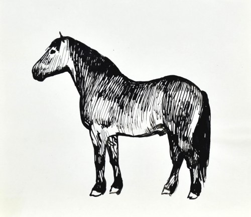 Ludwik MACIĄG (1920-2007), Koń w ujęciu z lewego boku
