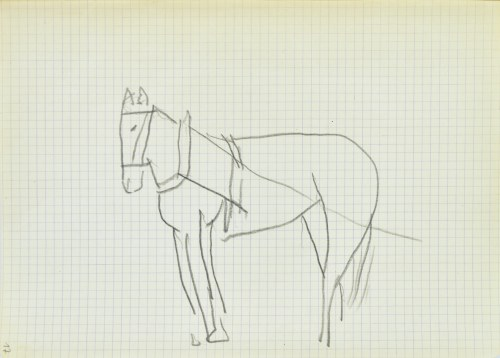 Jerzy PANEK (1918-2001), Koń w uprzęży