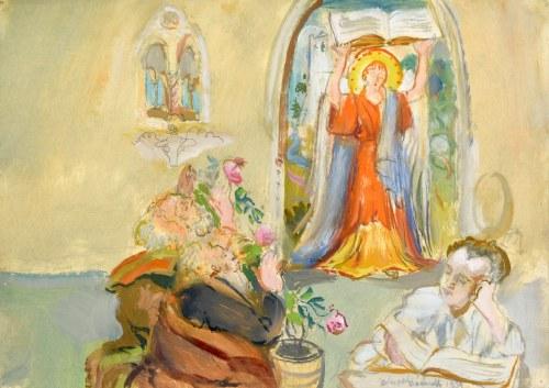 Kasper POCHWALSKI (1899-1971), Rozmarzony nad lekturą, 1959
