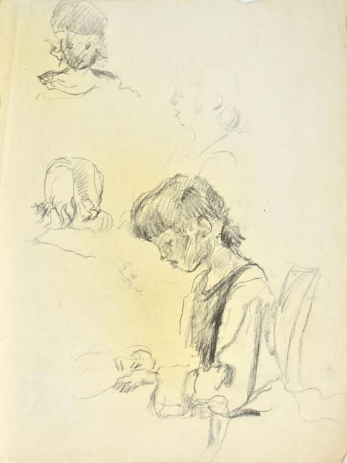 Kasper POCHWALSKI (1899-1971), Studia głowy dziewczynki, 1926