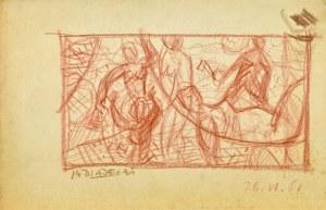 Kazimierz PODSADECKI (1904-1970), Scena rodzajowa, 1961