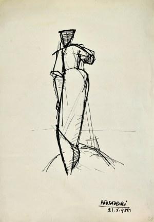 Kazimierz PODSADECKI (1904-1970), Kobieta ukazana od tyłu, 1955