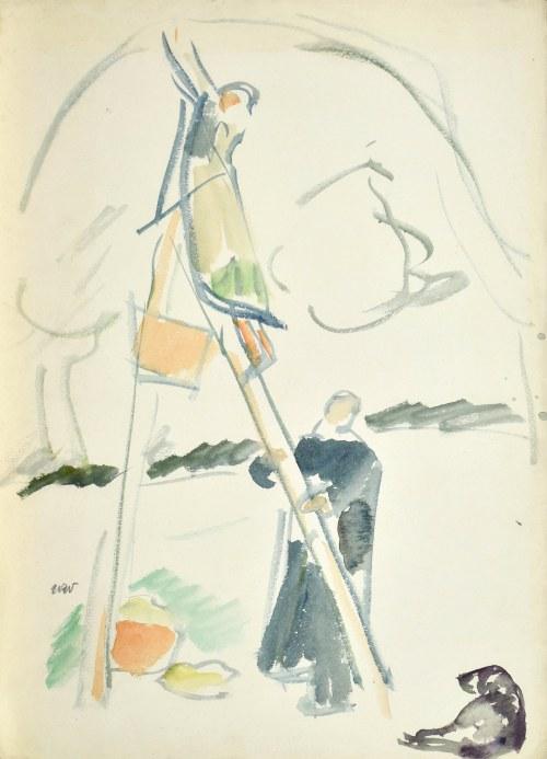Wojciech WEISS (1875-1950), Zbieranie jabłek, ok. 1910