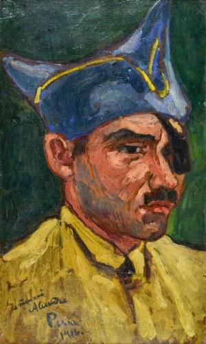 Jean PESKÉ (1870-1949), Popiersie mężczyzny z prawego profilu, 1916