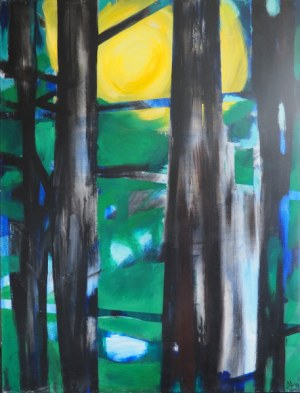 Magda Hajnosz, Słońce przeświecające przez drzewa, cykl Las (2017)