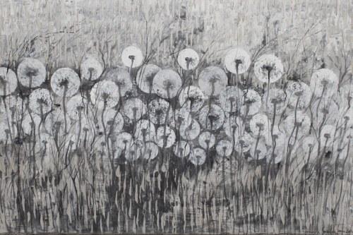Mariola Świgulska, Srebrzysty deszcz z cyklu Zauroczona Dmuchawcami, 2021