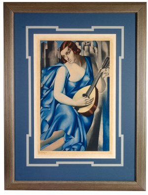 Tamara Łempicka (1898 Warszawa - 1980 Cuernavaca, Meksyk), Kobieta z mandoliną, ok. 1933 r.