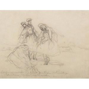 Józef Chełmoński (1849 Boczki - 1914 Kuklówka Zarzeczna), Studium kobiet