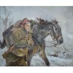 Wojciech Kossak (1856 Paryż - 1942 Kraków), Ułan z koniem
