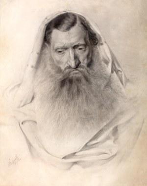 Piotr Stachiewicz (1858 Nowosiółki/Podole - 1938 Kraków), Portret Żyda, 1880 r.