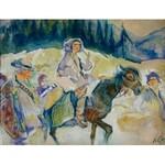 Kazimierz Sichulski (1879 Lwów - 1942 tamże), Huculi karpaccy, 1922 r.