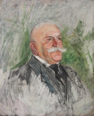 Wlastimil Hofman (1881 Praga - 1970 Szklarska Poręba), Portret mężczyzny, lata 1910–15