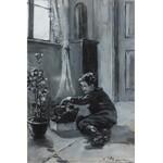 Stanisław Ludwik de Laveaux (1868 Jaronowice k. Jędrzejowa-1894 Paryż), Ogrodnik, 1889 r.