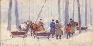 Adam Setkowicz (1875 Kraków - 1945 tamże), W lesie