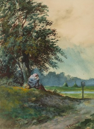 Franciszek Kostrzewski (1826 Warszawa - 1911 tamże), Przed burzą, 1895 r.