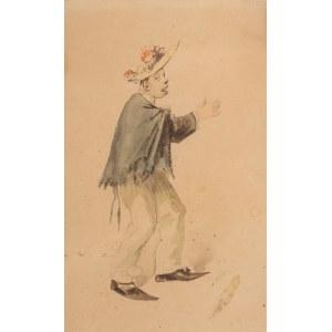 Franciszek Kostrzewski (1826 Warszawa - 1911 tamże), Mężczyzna w ukwieconym kapeluszu