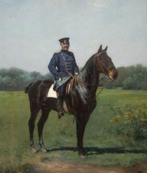 Kazimierz Pułaski (1861-1947), Oficer na koniu, 1893 r.