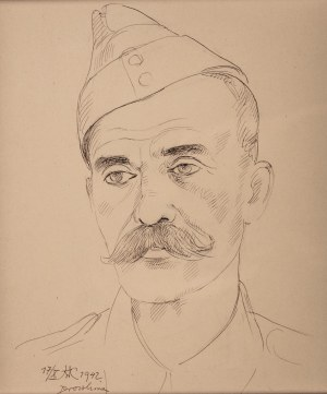 Wlastimil Hofman (1881 Praga - 1970 Szklarska Poręba), Portret żołnierza, 1942 r.