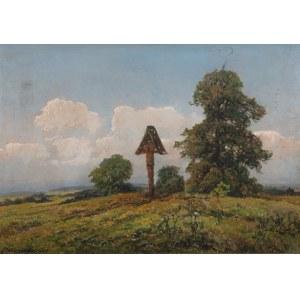 Wiktor Korecki (1890 Kamieniec Podolski - 1980 Milanówek k. Warszawy), PejzaPejzaż z kapliczką